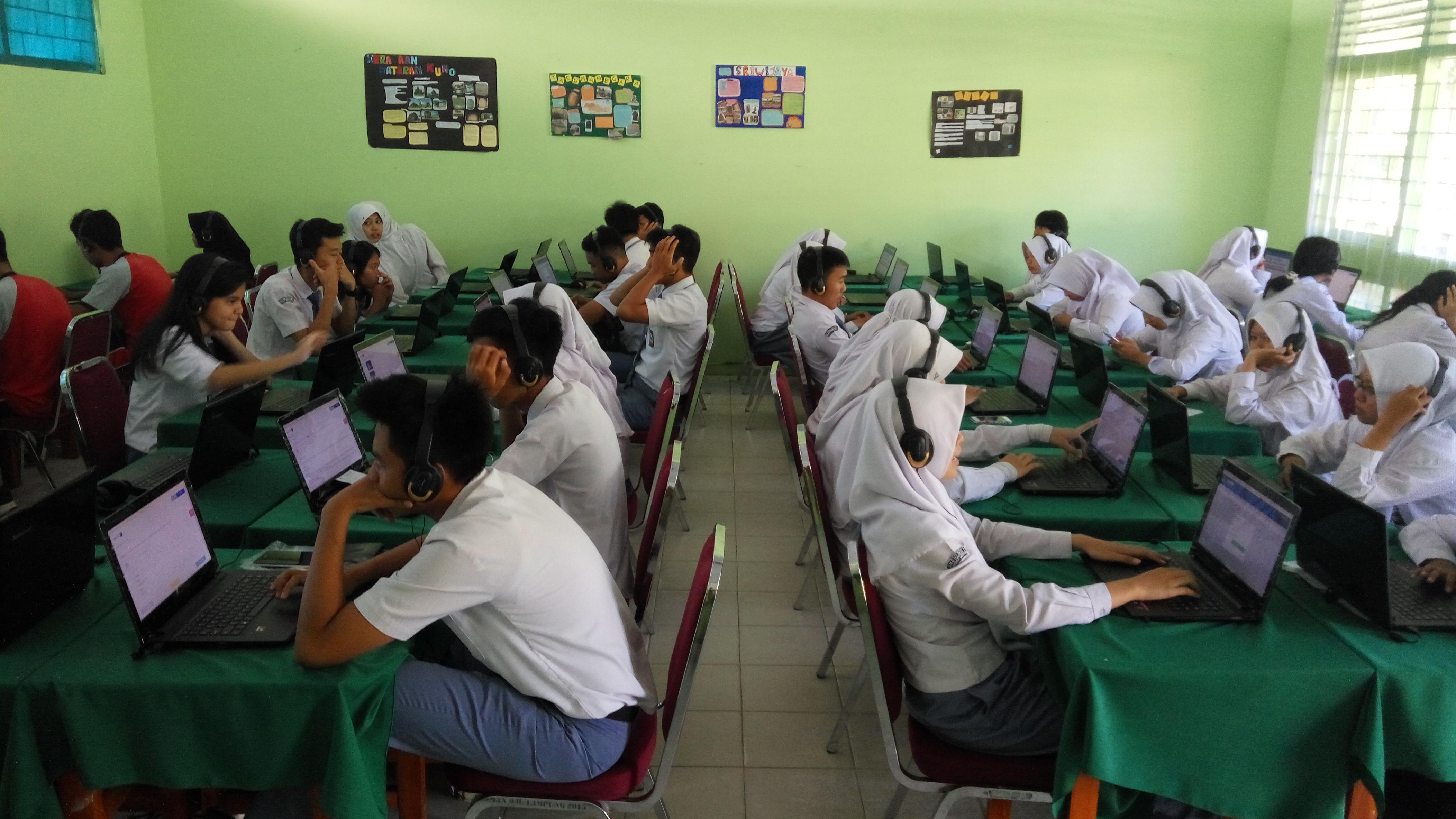 Sebanyak 368 Siswa SMAN 9 Bandar Lampung Ikuti USBN