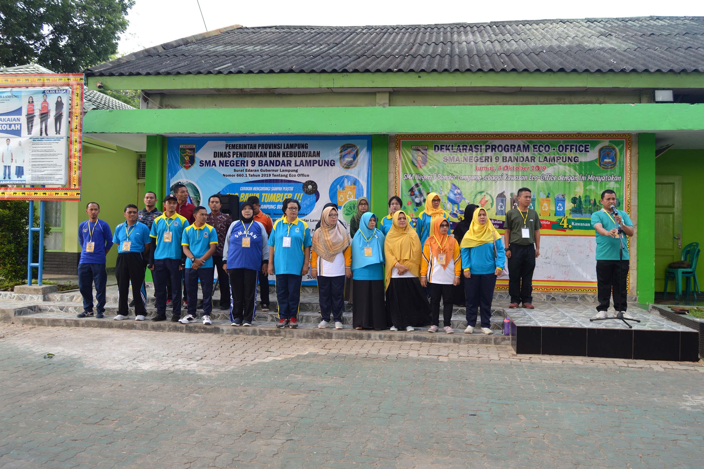 Kepala SMAN 9 Bandar Lampung Pimpin Apel Keberangkatan PUSDIKLATGAB 2019