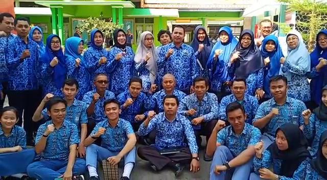 SMAN 9 Bandar Lampung ikut serta menjaga ketertiban dan keamanan Pelantikan Presiden RI