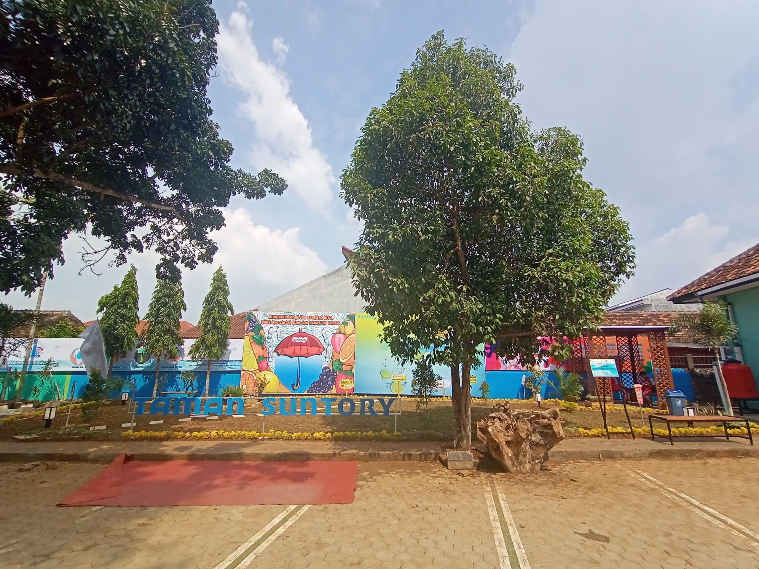 Peresmian Taman Literasi di SMA Negeri 9 Bandar Lampung